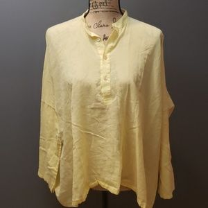 Helmut lang yellow blouse one size